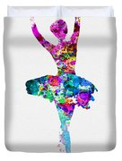 Ballerina Watercolor 1 Duvet Cover