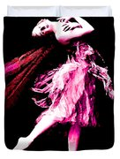 Ballerina Wings Pink Portrait Art Duvet Cover