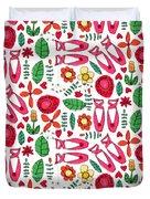 Ballet Scribble Fleur Duvet Cover