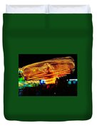 Ballons Ride At Night Duvet Cover