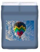 Balloon At Sunrise Duvet Cover