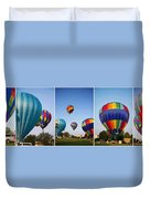 Balloon Festival Panels Duvet Cover