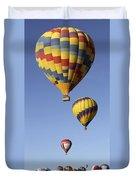 Balloon Fiesta 2012 Duvet Cover by Mike McGlothlen