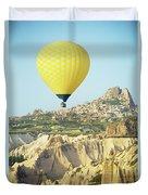 Balloon Ride Over Goreme National Park Duvet Cover