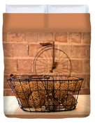 Balls In The Basket Duvet Cover
