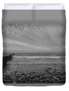 Baltic Sea And Clouds Duvet Cover