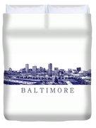Baltimore Blueprint Duvet Cover