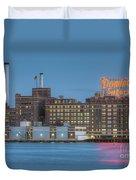 Baltimore Domino Sugars Plant I Duvet Cover