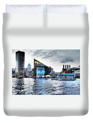 Baltimore - Harborplace - Inner Harbor At Night  Duvet Cover