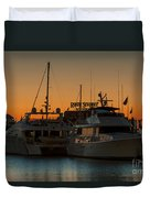 Baltimore Inner Harbor Marina At Dawn I Duvet Cover