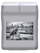 Baltimore Inner Harbor Skyline Duvet Cover