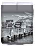 Baltimore Inner Harbor Skyline Vi Duvet Cover