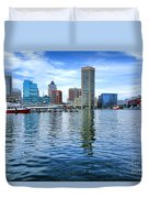Baltimore On The Water Duvet Cover