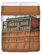 Baltimore Orioles Park At Camden Yards Duvet Cover