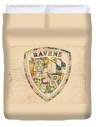 Baltimore Ravens Logo Art Duvet Cover