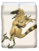 Bambiraptor, A Bird-like Dromaeosaurid Duvet Cover