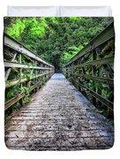 Bamboo Forest Bridge Duvet Cover