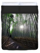 Bamboo Forest Path Of Kyoto Duvet Cover by Daniel Hagerman