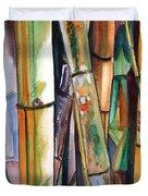 Bamboo Garden Duvet Cover by Marionette Taboniar