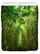 Bamboo Sky - The Magical And Mysterious Bamboo Forest Of Maui. Duvet Cover