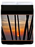 Bamboo Sunset - Black Frame Duvet Cover