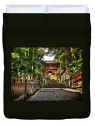 Bamboo Temple Duvet Cover