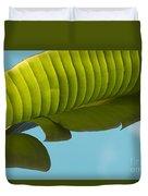 Banana Leaf And Maui Sky Duvet Cover