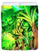 Bananas In Lahaina Maui Duvet Cover