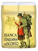 Banca Italiana Di Sconto, 1917 Duvet Cover