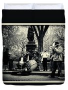 Band On Union Square New York City Duvet Cover by Sabine Jacobs