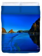 Bandon Blue And Gold Duvet Cover by Adam Jewell