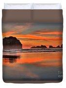 Bandon Orange Pastels Duvet Cover