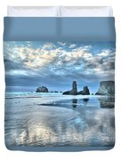 Bandon Sea Stack Reflections Duvet Cover