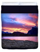 Banff Sunrise Six Minutes Later Duvet Cover
