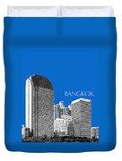 Bangkok Thailand Skyline 2 - Blue Duvet Cover