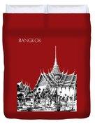 Bangkok Thailand Skyline Grand Palace - Dark Red Duvet Cover