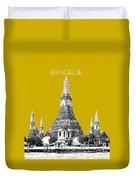 Bangkok Thailand Skyline Wat Arun - Gold Duvet Cover