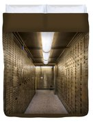 Bank Safe Deposit Boxes Duvet Cover