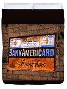 Bankamericard Welcome Here Duvet Cover
