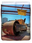 Banksys Steam Rollered Yogi Duvet Cover