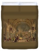 Banquet In The Baronial Hall, Penshurst Duvet Cover
