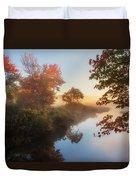 Bantam River Sunrise Duvet Cover by Bill Wakeley