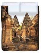 Banteay Srei, Cambodia Duvet Cover