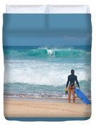 Banzai Pipeline Aqua Dream Duvet Cover