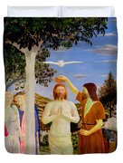 Baptism Of Christ - Oil On Canvas Duvet Cover