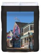 Bar Harbor Downtown  Duvet Cover