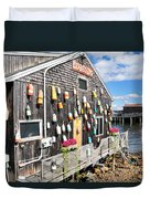 Bar Harbor Restaurant Duvet Cover