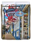 Bar Harbor Sidewalk Duvet Cover