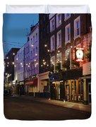 Bar Italia Soho London Duvet Cover