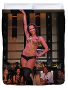 Bar Top Dancer In Las Vegas Duvet Cover